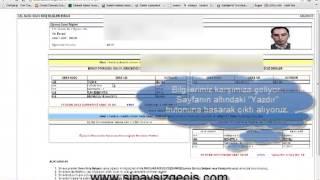 açık lise sınav giriş belgesi